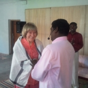 Irene with Pastor John Christopher from India